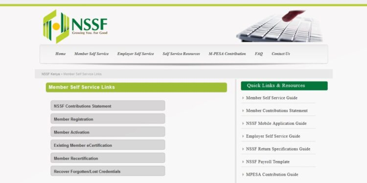 How to register for the online NSSF portal