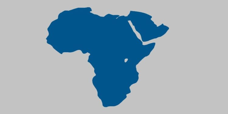 African countries by their population