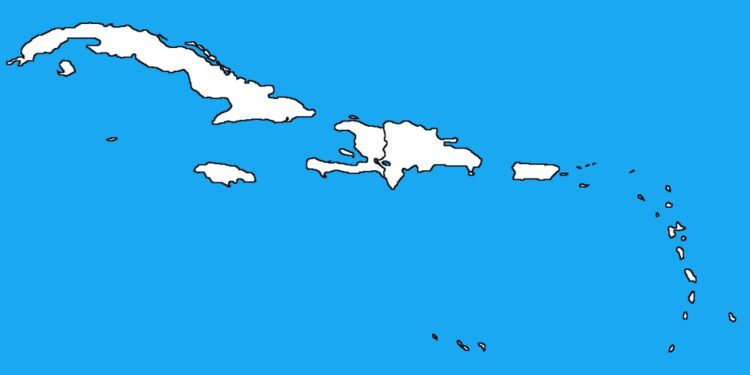 Caribbean countries by their population