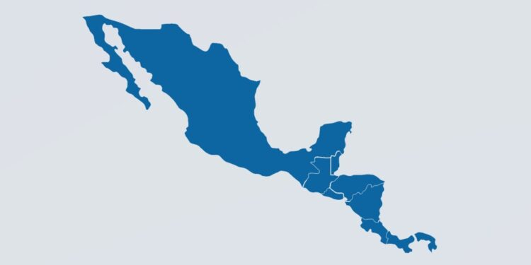Central American countries by their population