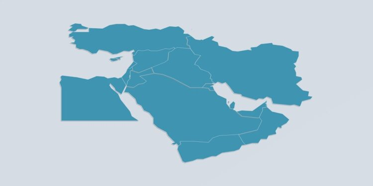 Middle East countries by their population