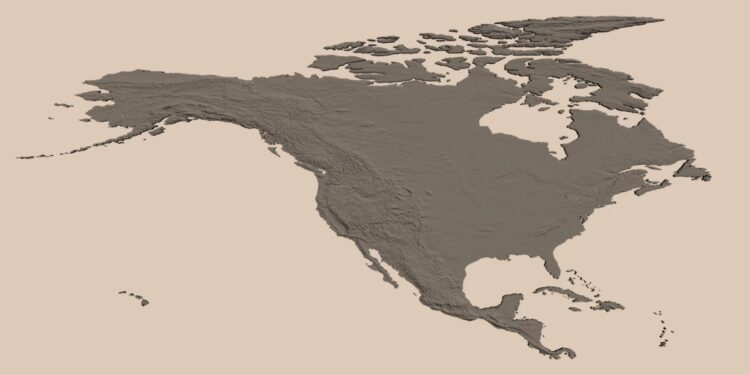 North American countries by their population