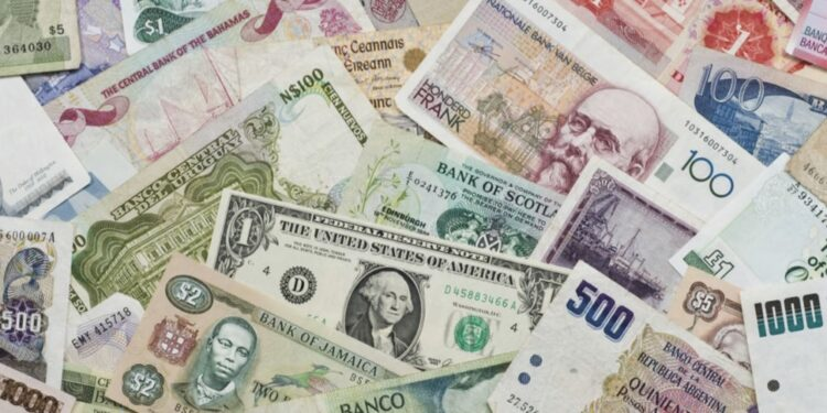Top 20 most traded currencies in the world