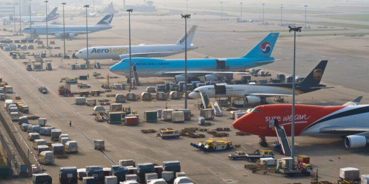 Top 20 largest airports in the world by cargo traffic