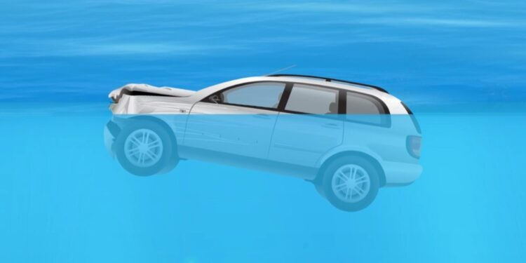 How to escape from a sinking car